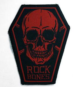 """Go Rocker - Rock Bones in Red 6.75x3.5"""" Coffin Patch"""