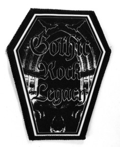"Go Rocker - Goth Rock Legacy 6.75x3.5"" Coffin Patch"