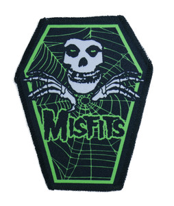 "Go Rocker - Misfits in Green 6.75x3.5"" Coffin Patch"