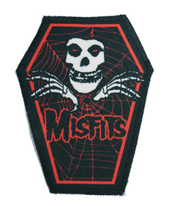 "Go Rocker - Misfits in Red 6.75x3.5"" Coffin Patch"