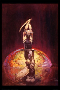 "Frazetta's The Brain 1967 24x36"" Poster"