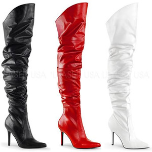 "4"" Thigh High Scrunch Boot by Pleaser"