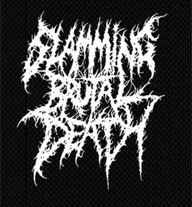 "Slamming Brutal Death 5x6"" Printed Patch"