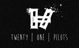 "Twenty One Pilots - Stencil Logo 5x4"" Printed Patch"