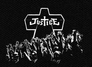 "Justice - Cross 5x4"" Printed Patch"