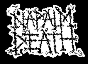 "Napalm Death - Logo 5x4"" Printed Sticker"