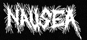 "Nausea - Logo 7x4"" Printed Patch"