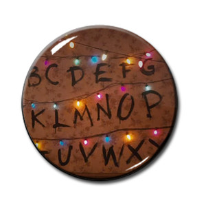 "Stranger Things - Wall Letters 1.5"" Pin"