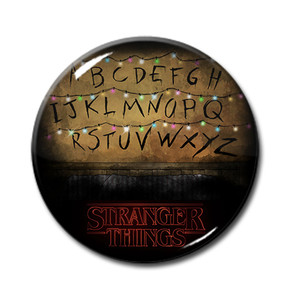 "Stranger Things - Wall Letters Illustration 1.5"" Pin"