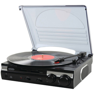Jensen JTA-230 3 Built in Speed Record Vinyl Turntable