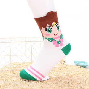 Sailor Moon - Jupiter Crew Sock