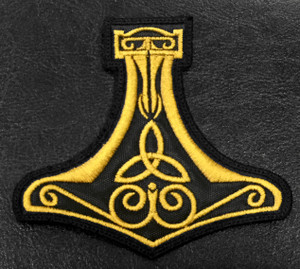 "Thor's Hammer Mjolnir 4x4"" Embroidered Patch"