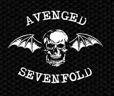 "Avenged Sevenfold - Bat Skull 5x4"" Printed Patch"