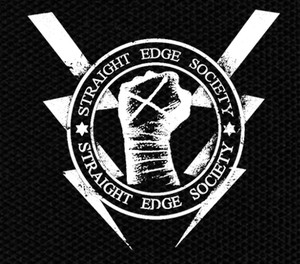 "Straight Edge Society - Logo 4.5x4"" Printed Patch"
