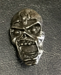 "Iron Maiden - Piece of Mind Eddie 2"" Metal Badge Pin"