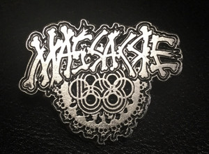 "Massacre 68 Saw - Logo 2"" Metal Badge Pin"