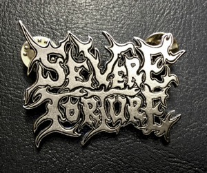 "Severe Torture - Logo 2"" Metal Badge Pin"