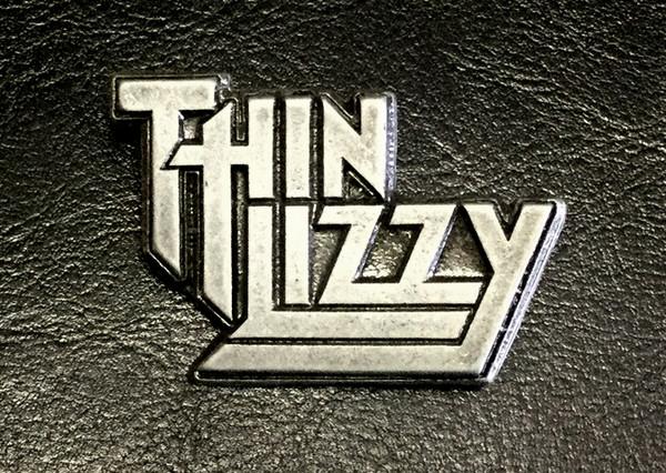 """thin lizzy - logo 2"""" metal badge pin"""