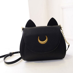 Black Sailor Moon Luna Cat Handbag