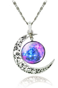 Crescent Moon Chrome Pendant