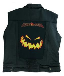 """Go Rocker - Helloween -  Pumpkin Smiley 13.5X10.25"""" Color Backpatch"""
