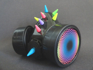 Respirator - Multicolored Spikes and Spirals