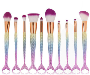 Mermaid Brush Set of 10 pieces