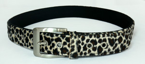 Brown Leopard Leather Belt
