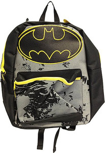 Batman Logo and Splattered Backpack with Hooded Cape