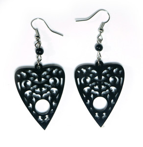 Black Ouija Planchette Earrings