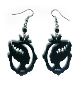 The Bride Black Acrylic Earrings