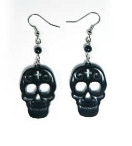 Black Sugar Skulls Earrings