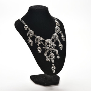 Chrome Pirate Skulls Necklace