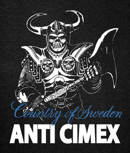 Anti Cimex- Country of Sweden Backpatch 12x16""