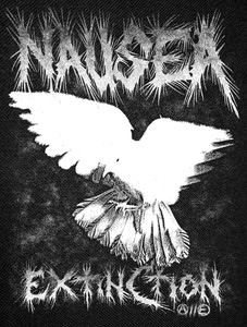 Nausea - Extinction Backpatch 12x14""