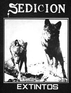 """Sedicion - Extintos Backpatch 12x15"""""""