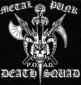 "Metal Punk Deathsquad  - Logo 5x6"" Printed Patch"
