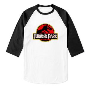 Jurassic Park Logo Baseball 3/4 Sleeve T-Shirt
