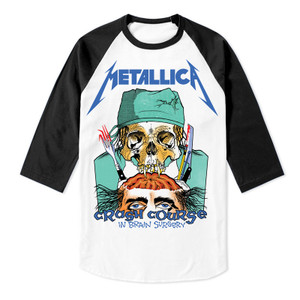 Metallica - Crash Course In Brain Surgery Baseball 3/4 Sleeve T-Shirt