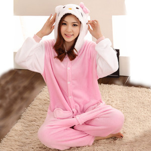 Adult Size Hello Kitty Kigurumi Onesie