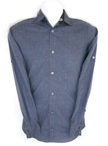 Triangle Theme Long Sleeve Dress Shirt