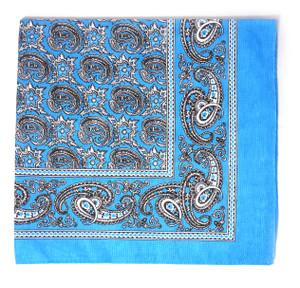 Classic Pattern Bandana - Blue