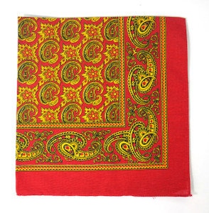 Classic Pattern Bandana - Red and Gold 2