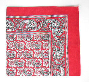 Classic Pattern Bandana - Red and White
