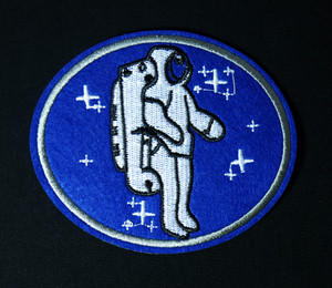 "Astronaut with Jet Pack 4x3.5"" Embroidered Patch"