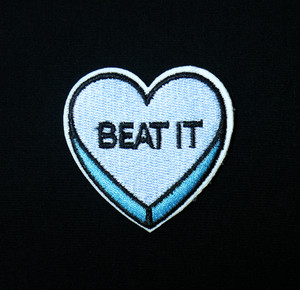 "Candy Heart - Beat It 2x2"" Embroidered Patch"