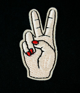"Peace Sign 2"" Embroidered Patch"