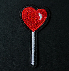 "Lollipop Heart 3"" Embroidered Patch"