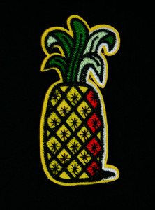 "Fruit - Pineapple 3"" Embroidered Patch"