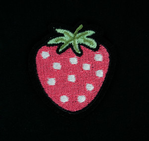 "Fruit - Strawberry 3"" Embroidered Patch"